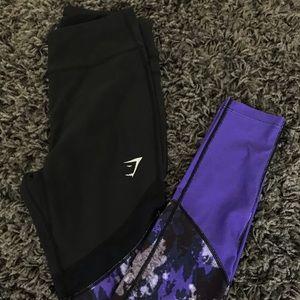 Gymshark indigo, mesh leggings